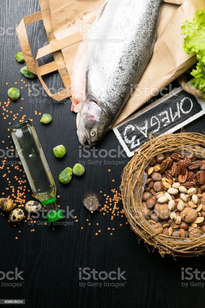 Healthy fat salmon or trout, oil, nuts. Omega 3 source, seeds, chia,...