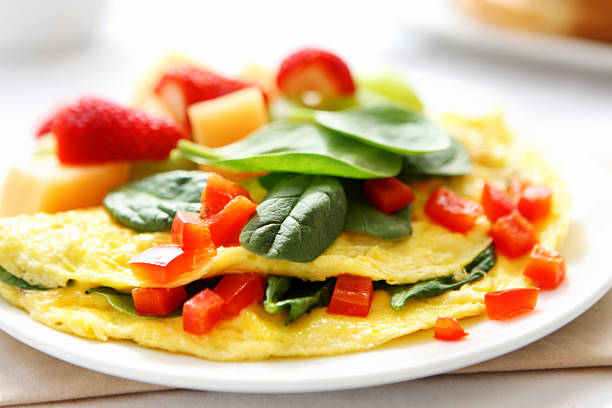 omelet for breakfast stock photo