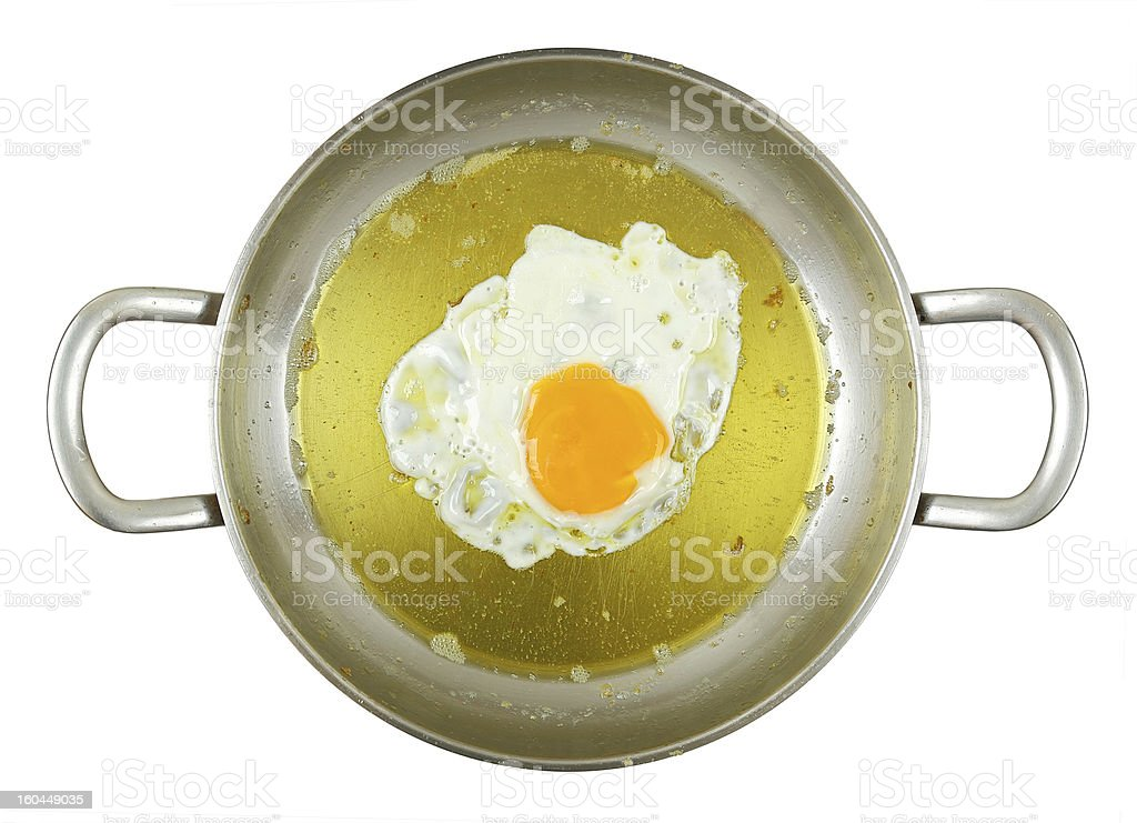 omelet in frying pan royalty-free stock photo