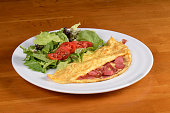 Omelet Plate With Tomato And Lettuce