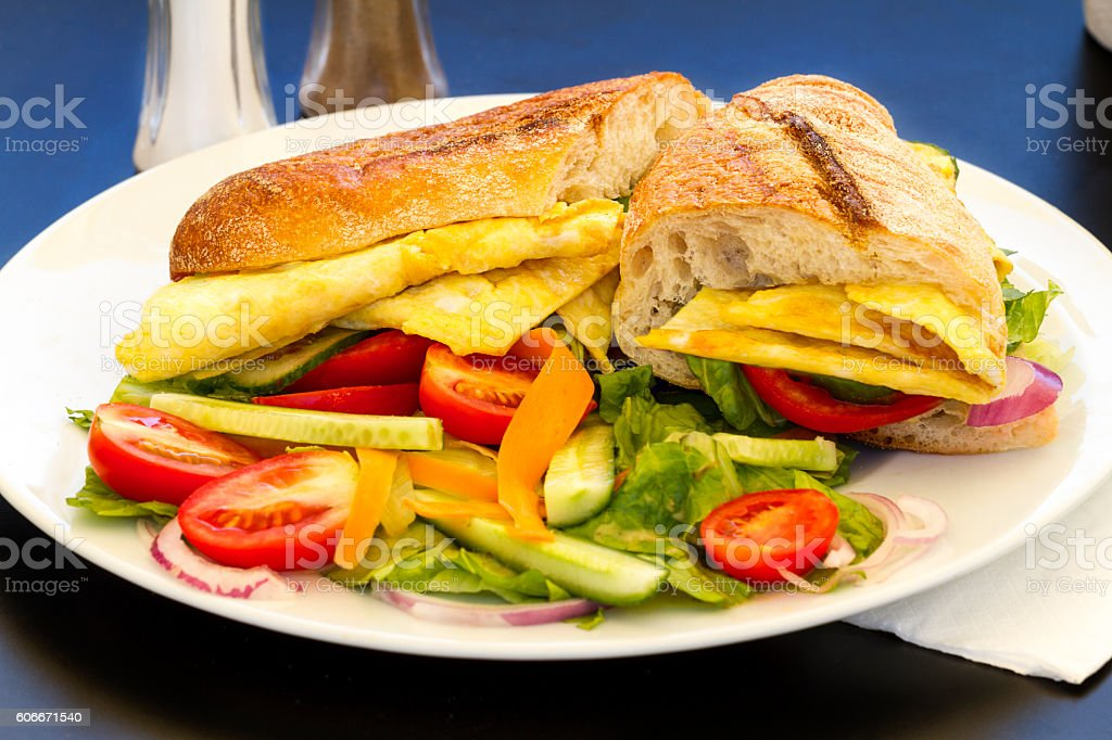 Omelet sendwich stock photo