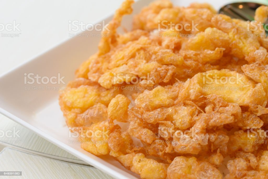omelette on top cooked rice stock photo