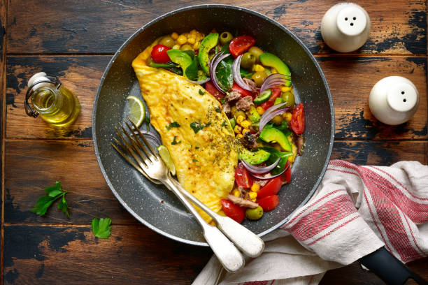 Omelette farcie aux légumes - Photo