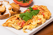 Omelette With Sausage And Potatoes