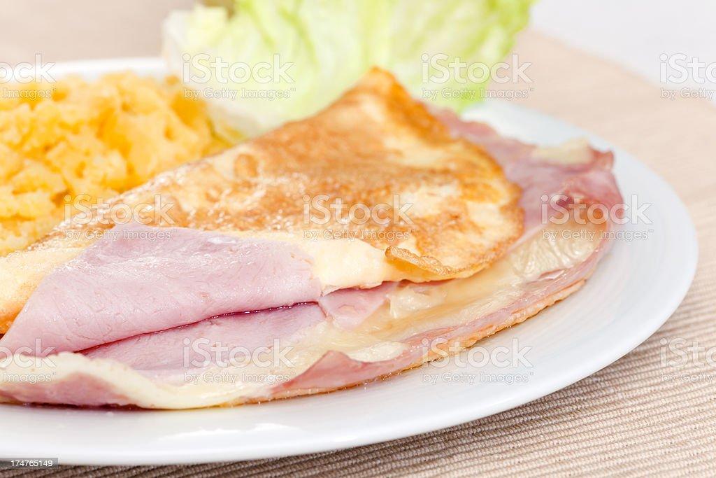 Omellete breakfast stock photo