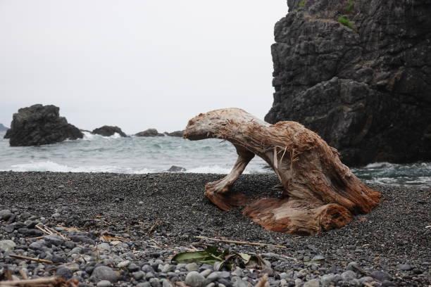 青海島の断崖と波いくつかについて ストックフォト
