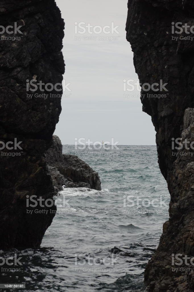 青海島の崖 ストックフォト