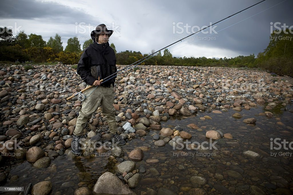 Ominous Fishing royalty-free stock photo
