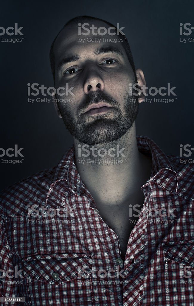 Ominous Looking Bearded Man royalty-free stock photo