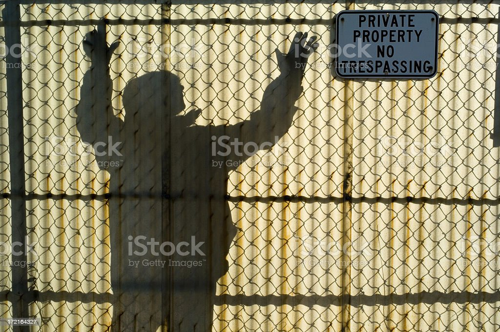 Ominous Tresspasser royalty-free stock photo