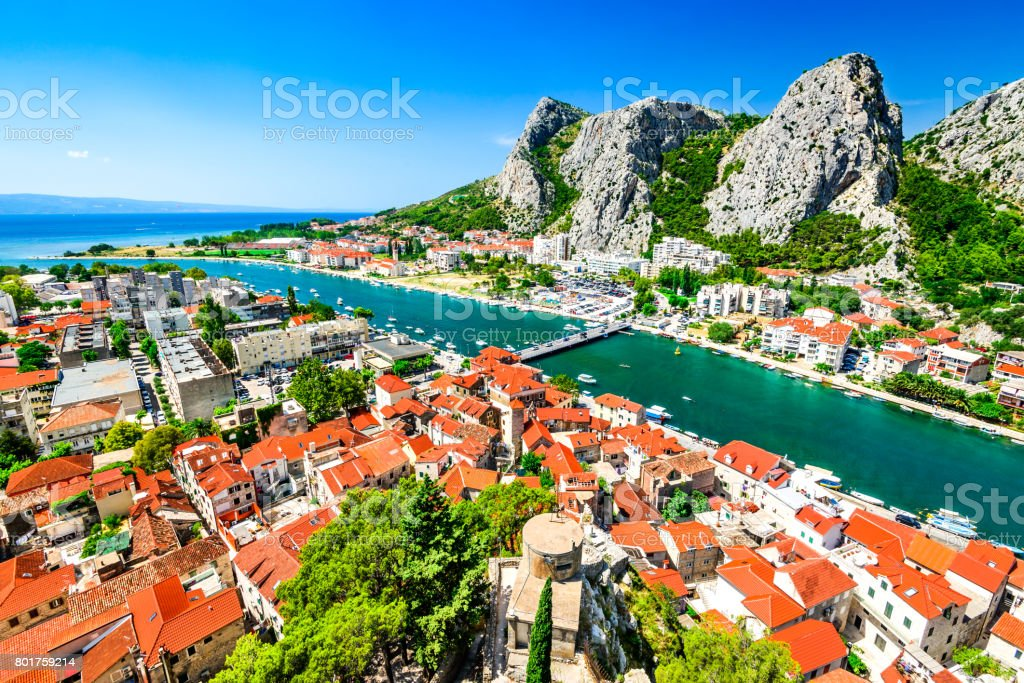 Omis, Dalmatia, Croatia stock photo