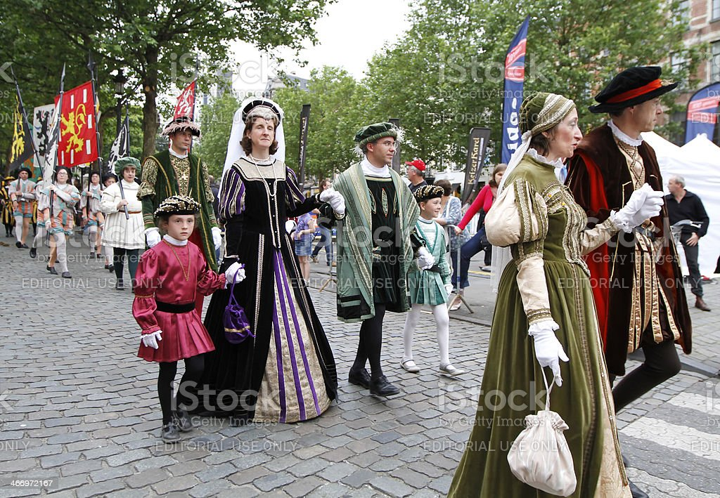 Ommegang medieval festival in Brussels stock photo