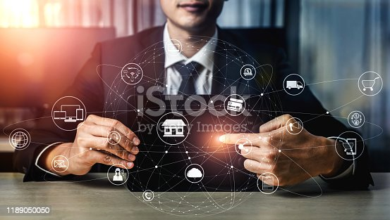665284604istockphoto Omni channel technology of online retail business. 1189050050