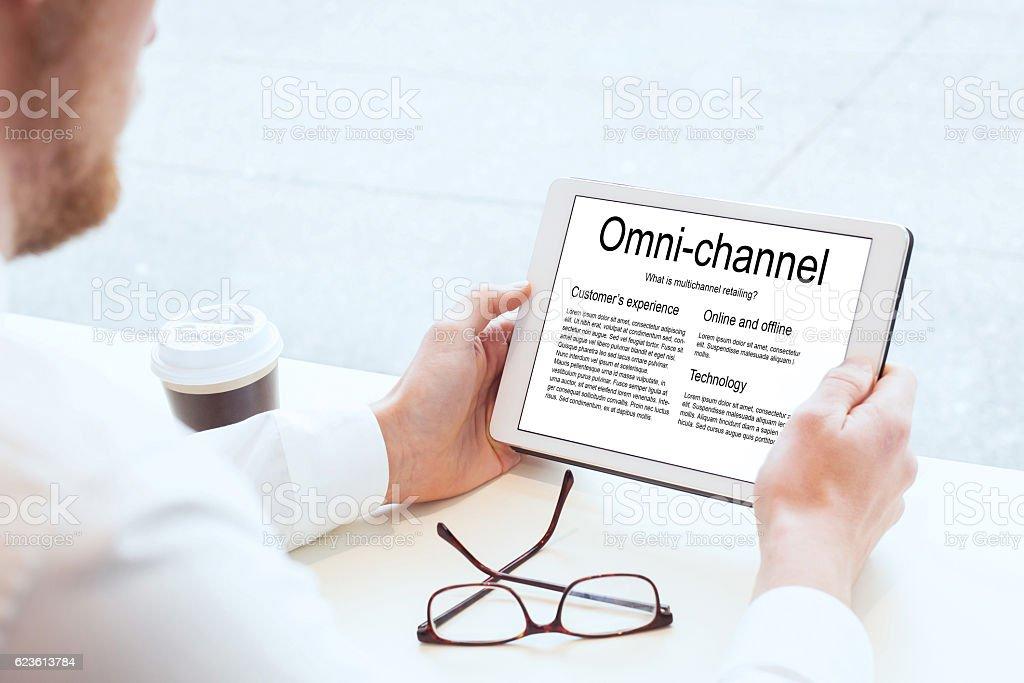 omnichannel marketing stock photo