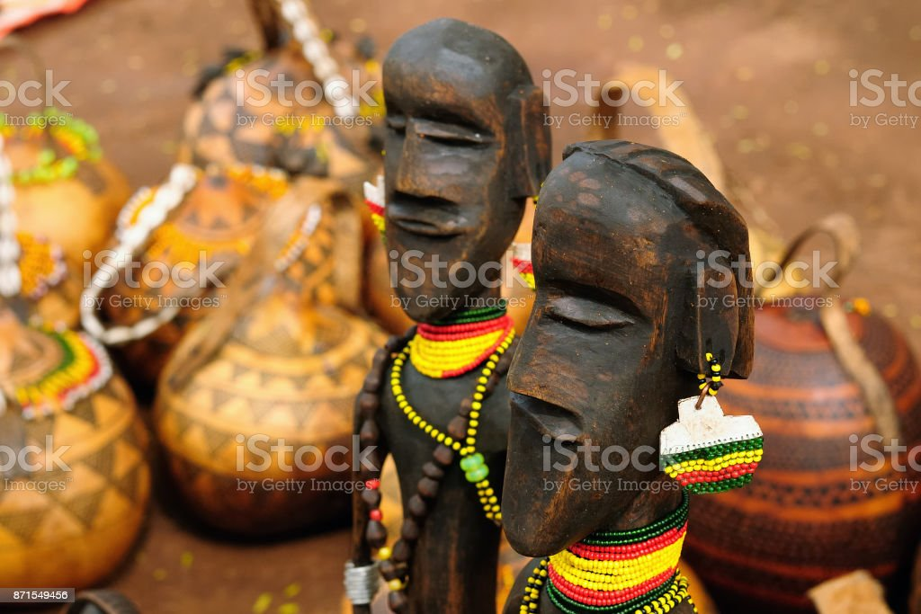 Omo Valley market stock photo