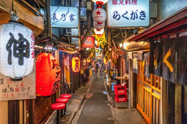 Omoide Yokocho (Piss Alley) in Tokyo stock photo