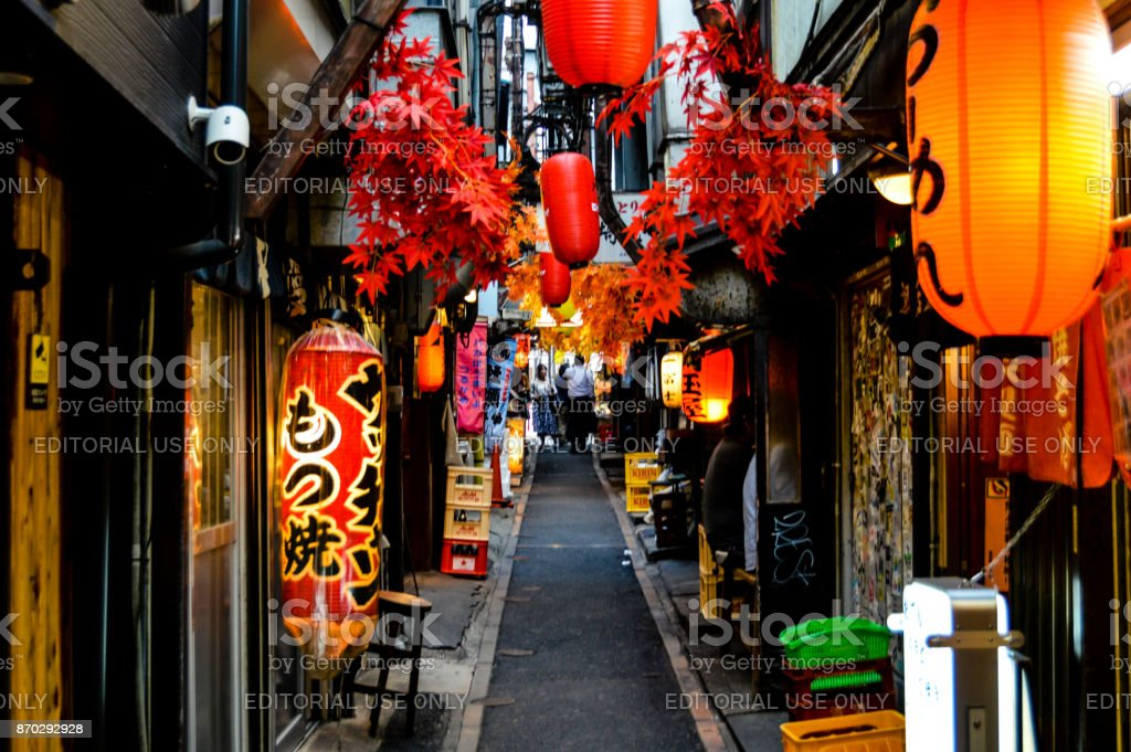 Omoide-Yokocho in Shinjuku district of Tokyo stock photo