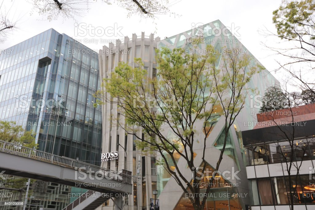 Omote Sando hill is a mall famous stock photo