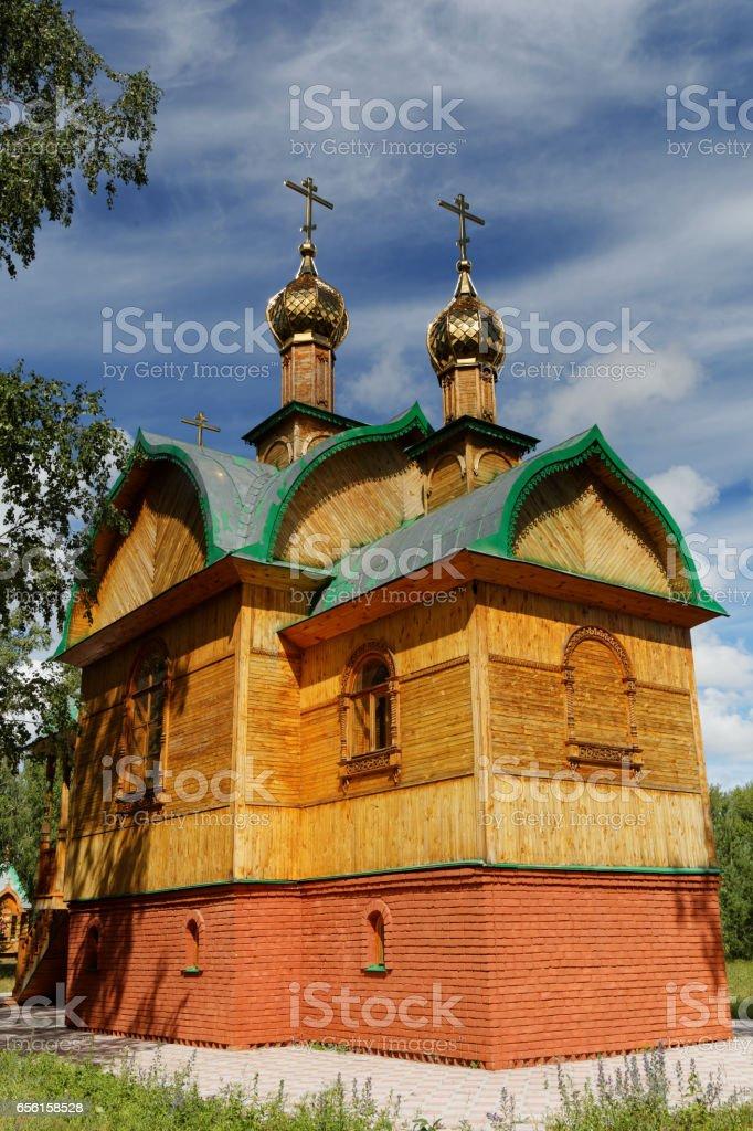 Omsk Region, Achair Monastery stock photo