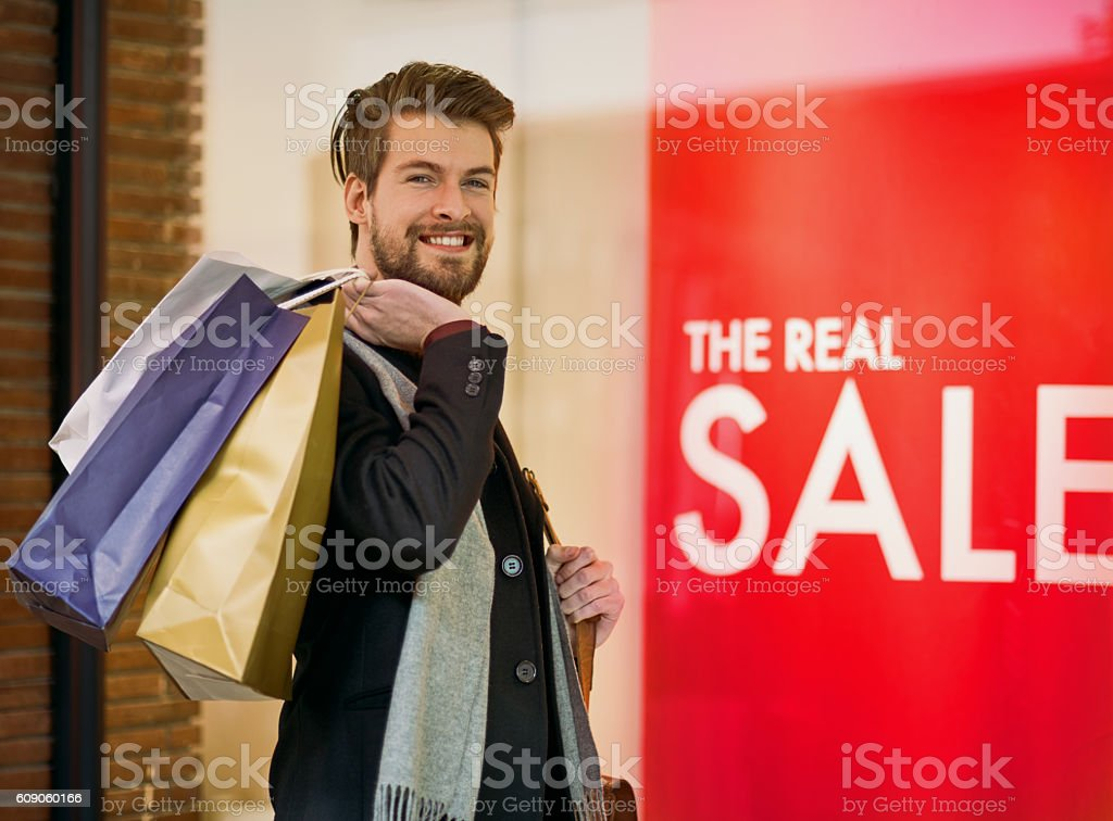 On a bargain hunting mission royalty-free stock photo