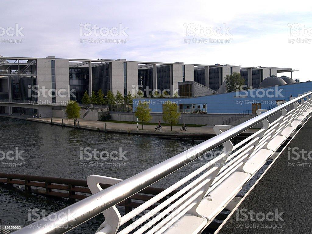 on a bridge in Berlin royalty free stockfoto
