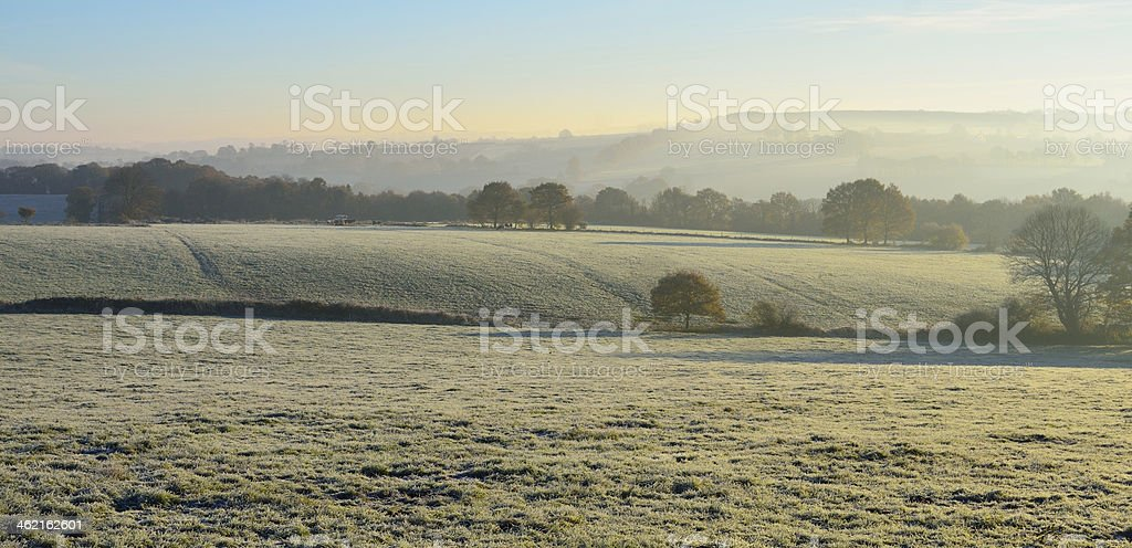 On a cold winter morning stock photo