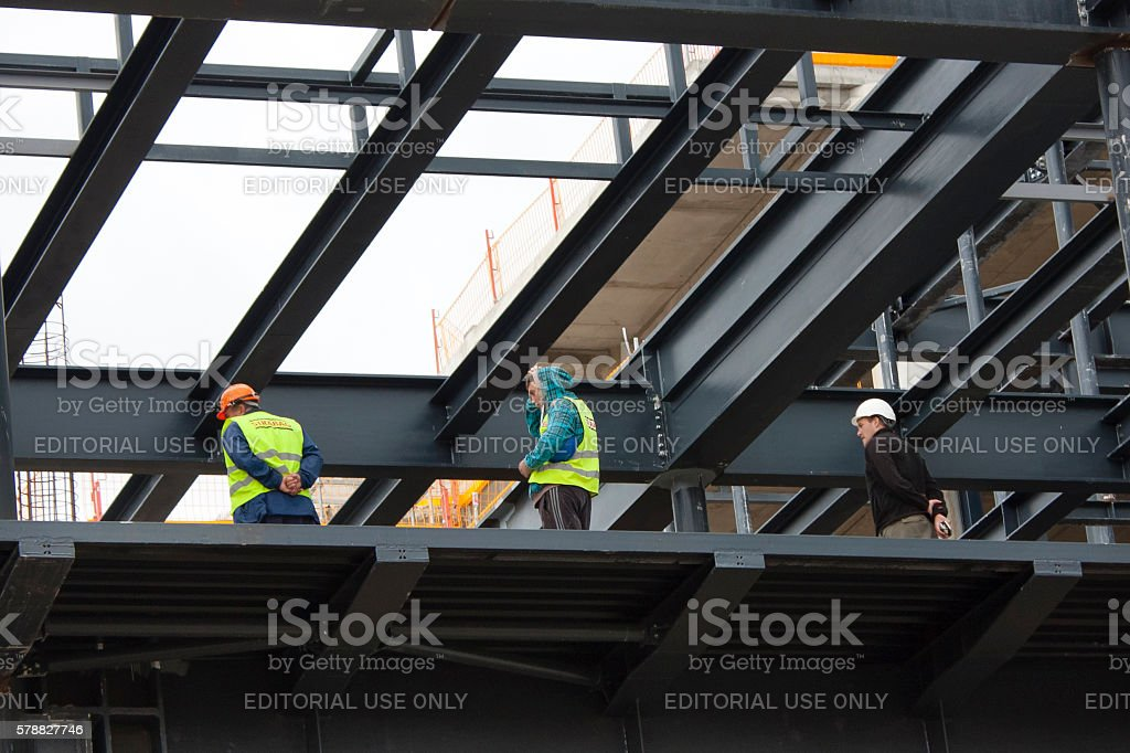 On a construction site 2 stock photo