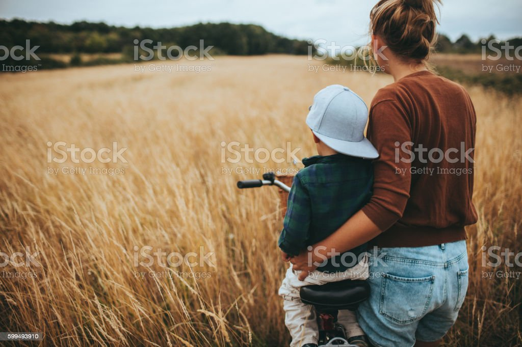 On a countryside stock photo