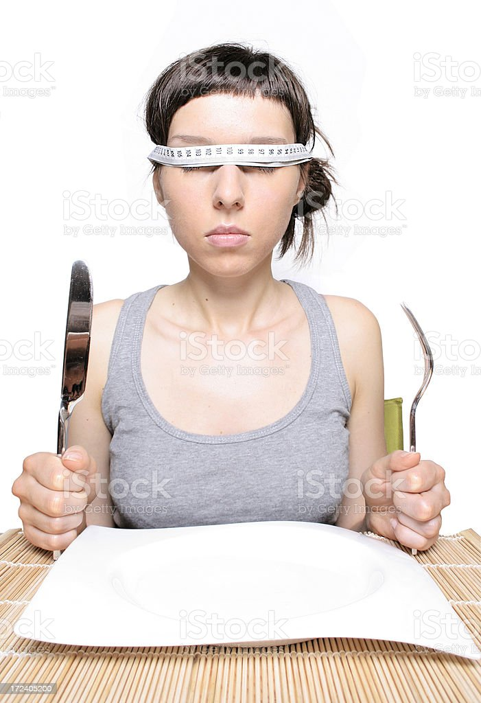 On a diet... royalty-free stock photo