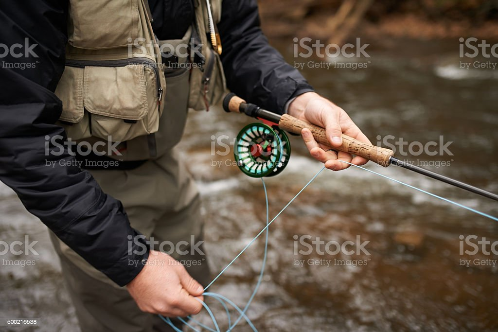 On a fishin' mission royalty-free stock photo