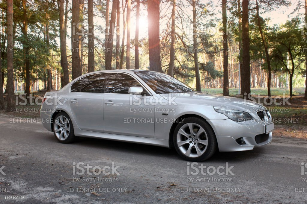 Bmw E60 On A Forest Road Gray Bmw Car Stock Photo Download Image Now Istock