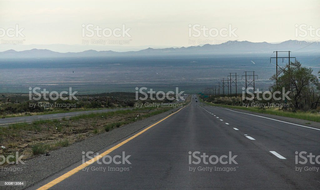 On a Highway in the USA, New Mexico stock photo