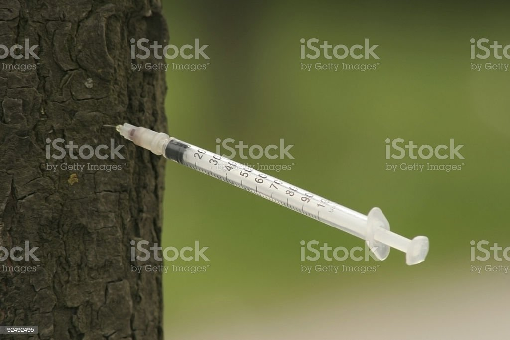 On a needle royalty-free stock photo