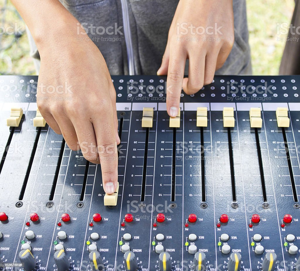 On a photo mixing desk royalty-free stock photo
