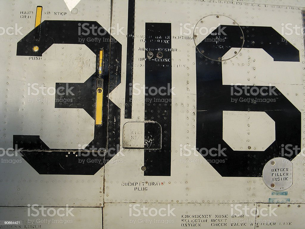 316 on a plane royalty-free stock photo