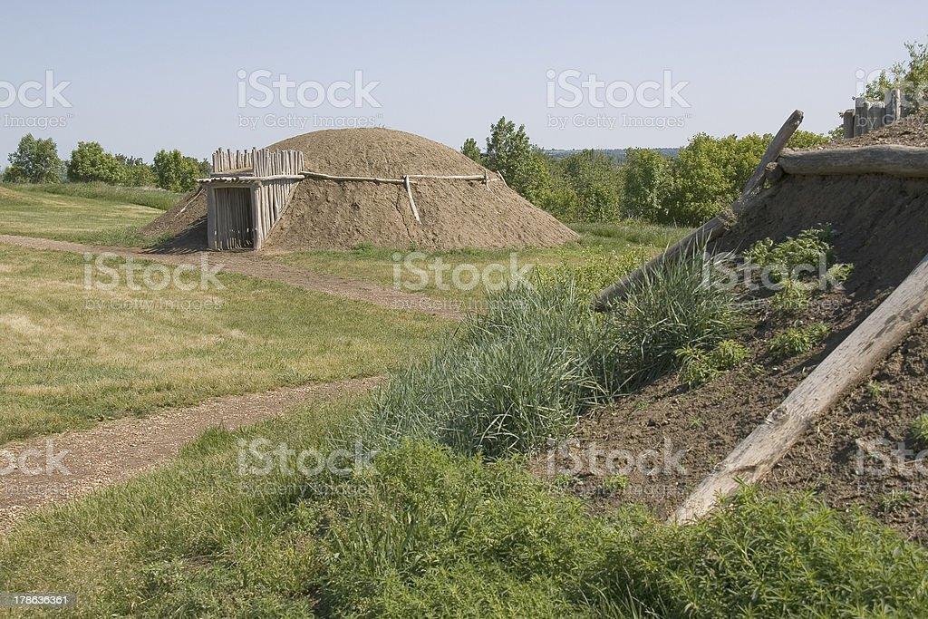 On A Slant Village stock photo