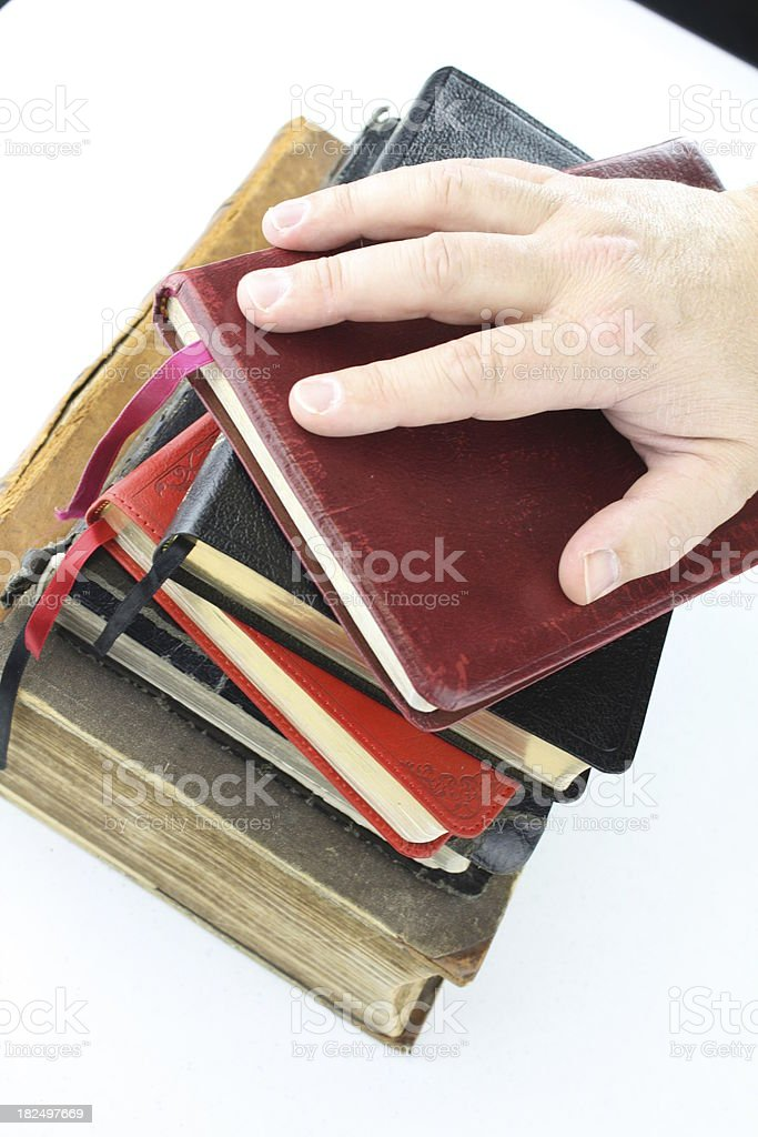 On A Stack Of Bibles Stock Photo - Download Image Now - iStock
