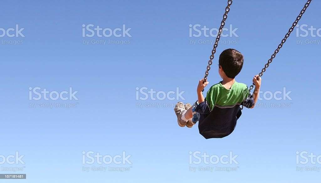 On a swing royalty-free stock photo