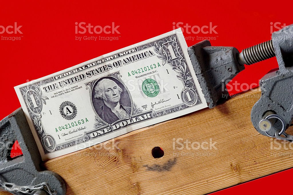 On a tight budget royalty-free stock photo