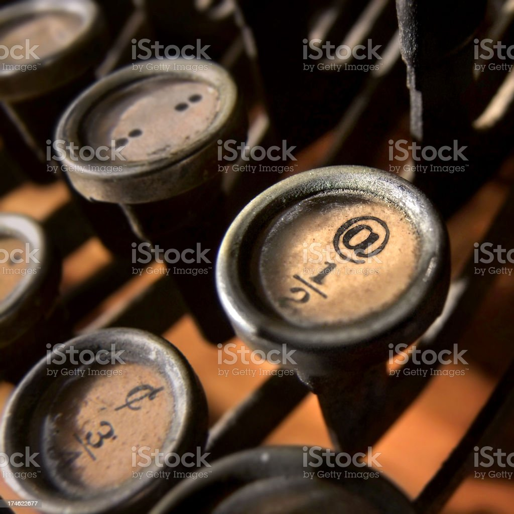 @ on a typewriter key royalty-free stock photo