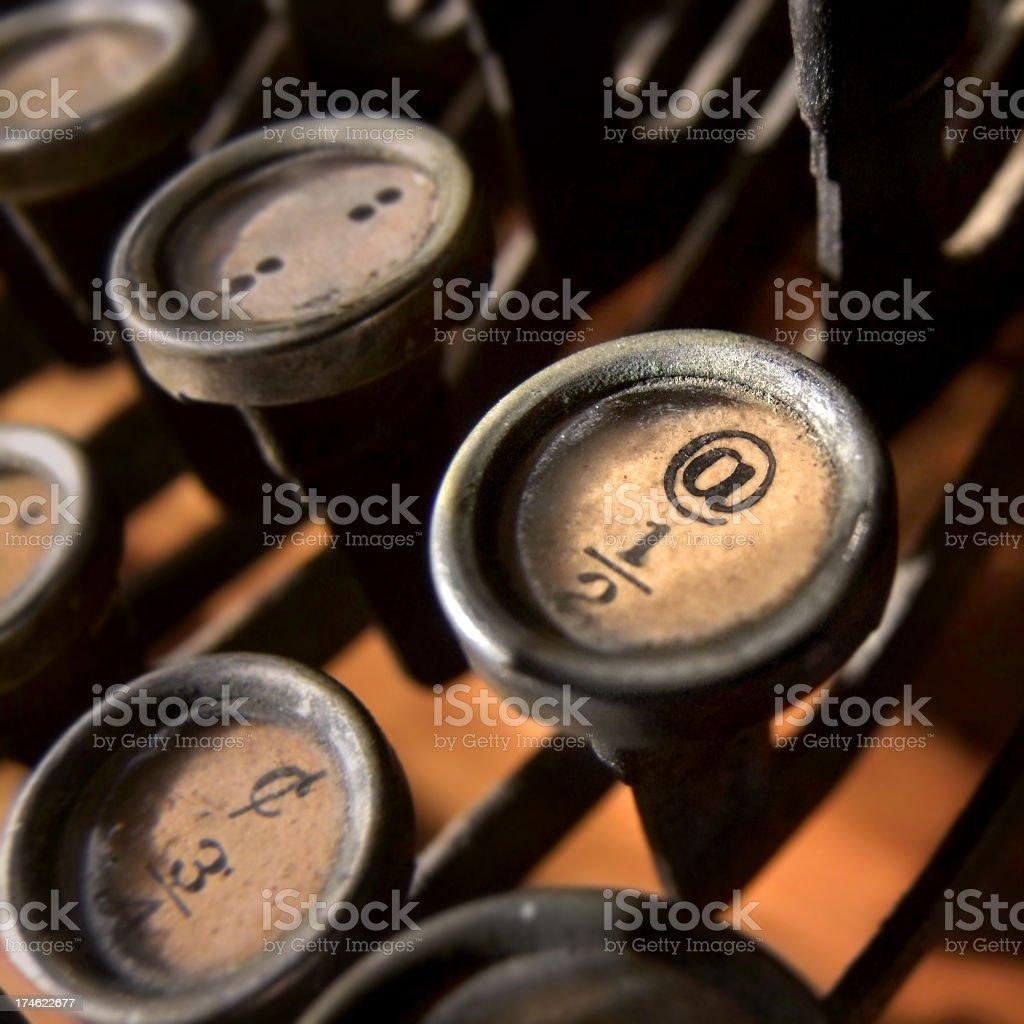 @ on a typewriter key stock photo