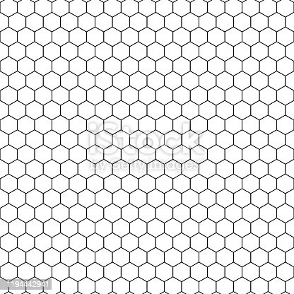 On a white sheet of geometric hexagonal figures in the form of honeycombs.Texture or background