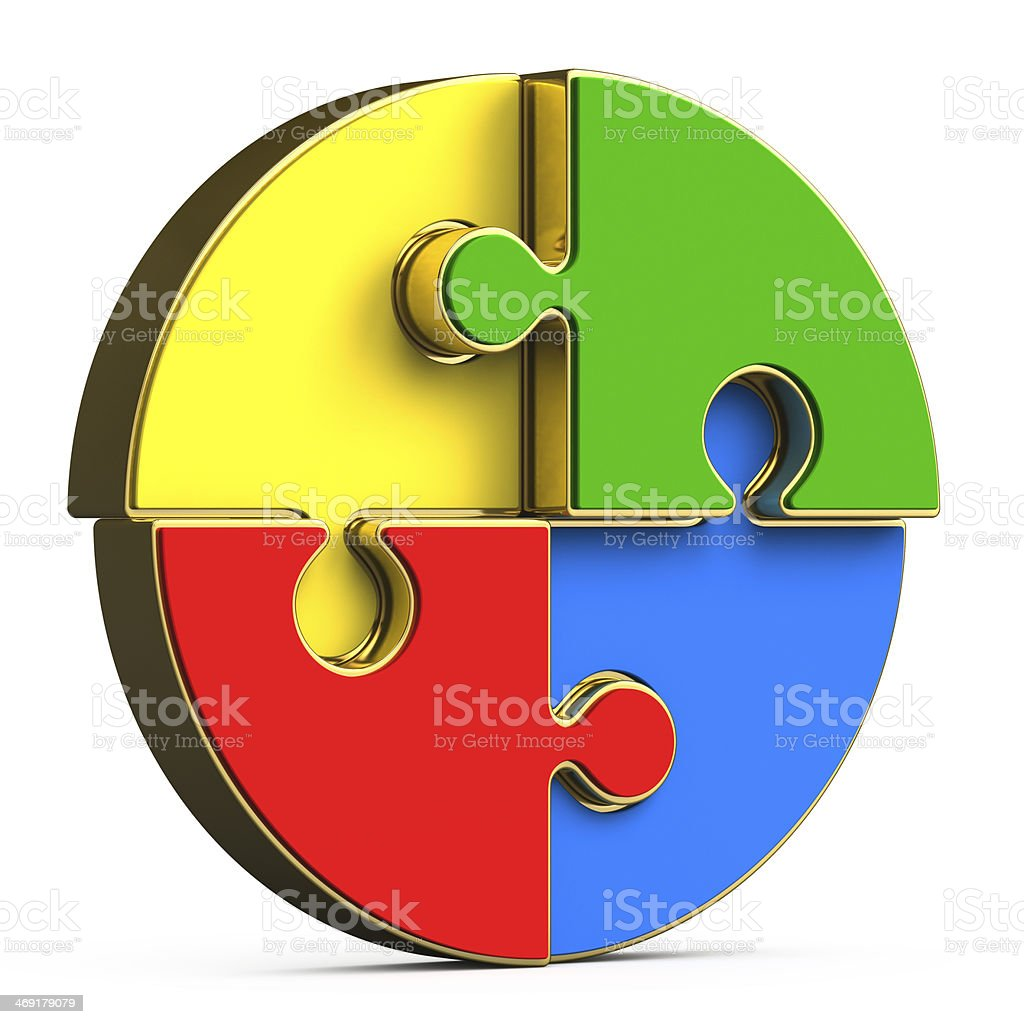 on a white background multicolored round puzzle royalty-free stock photo