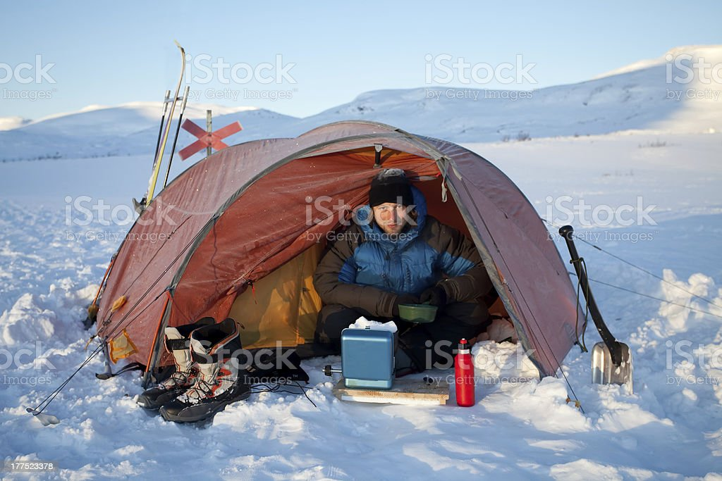 on a Winterexpedition stock photo