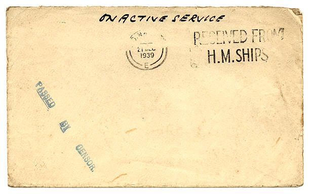 En service actif-guerre enveloppe, 1939 - Photo
