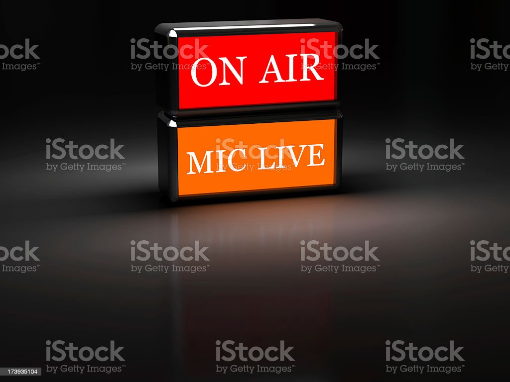 On Air, Mic Live royalty-free stock photo