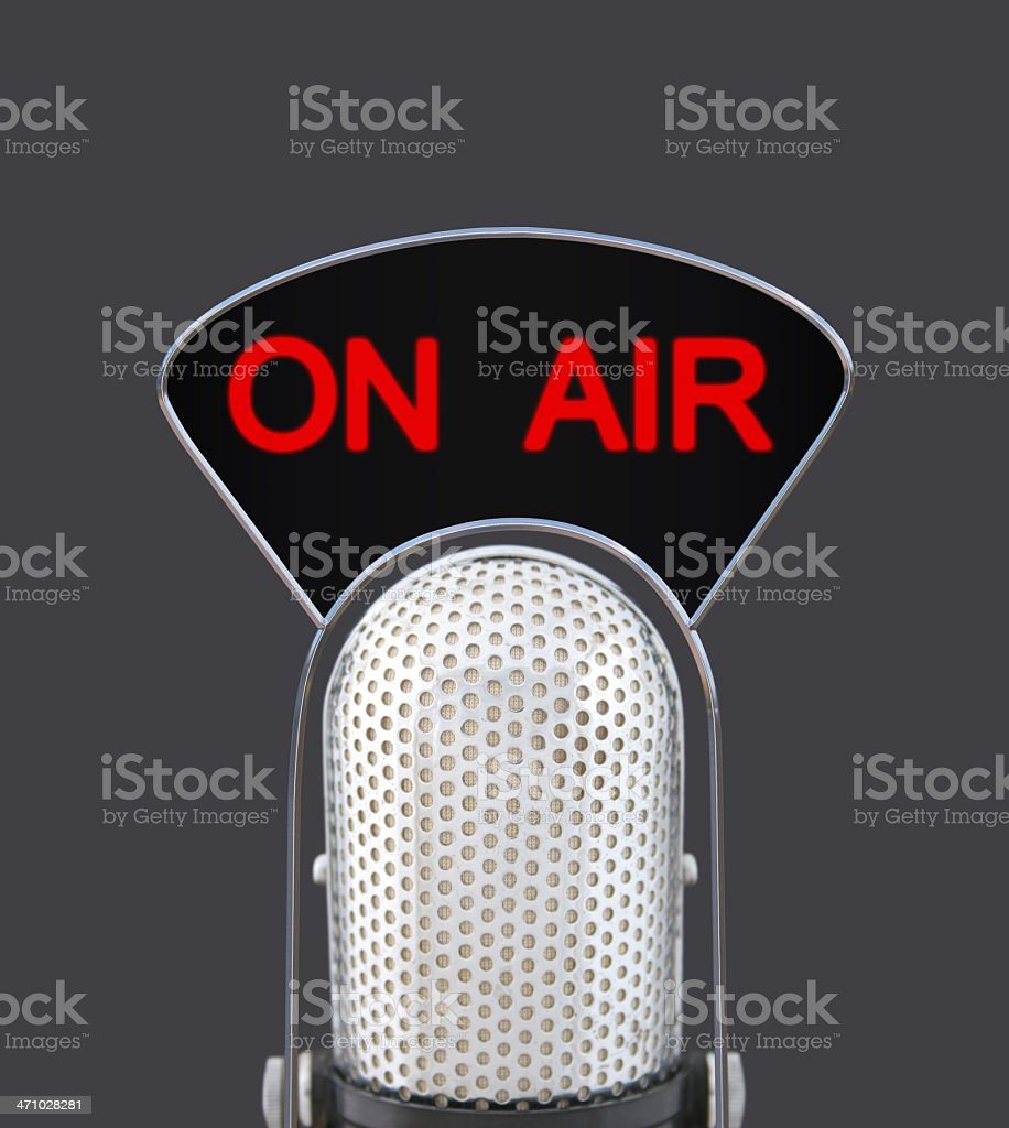 On Air Microphone royalty-free stock photo