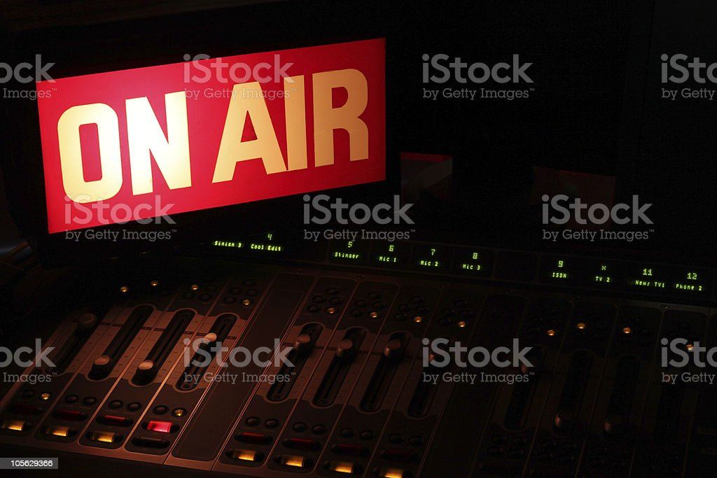 On Air Radio Studio Horizontal stock photo