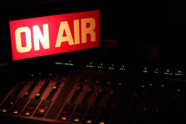 on air radio studio horizontal - on air stock photos and pictures