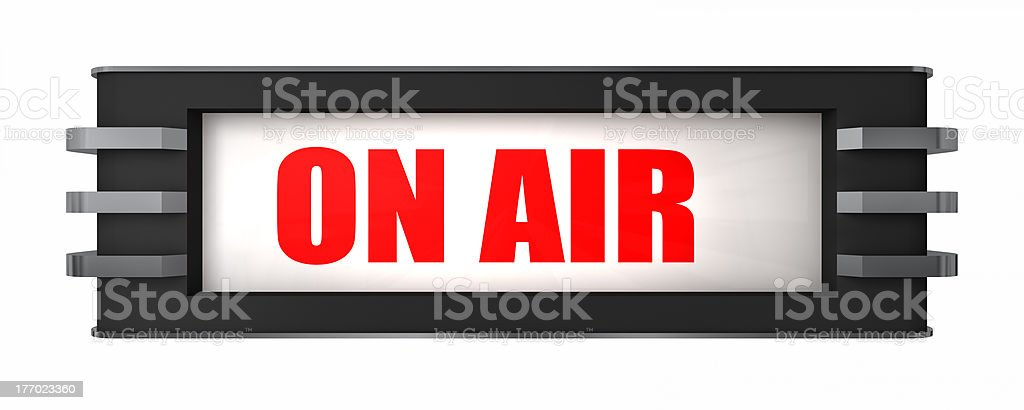 A on air sign on a white background royalty-free stock photo